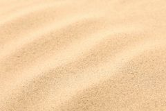Seamless sand on a whole background. Texture. Stock Photography