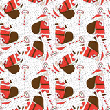 Seamless Santa Claus pattern Stock Photography