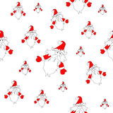 Seamless Santa Claus pattern Stock Images