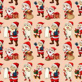 Seamless santa clause Royalty Free Stock Photography
