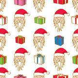 Seamless Santa and Gifts Stock Photography