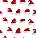 Seamless Santa hat background Stock Photo