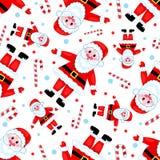 Seamless Santas Pattern. Stock Image