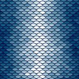 Seamless scale pattern. Abstract roof tiles background. Blue squama texture Royalty Free Stock Photos