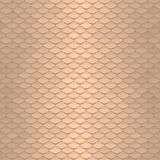 Seamless scale pattern. Abstract roof tiles background. Gold squama texture Stock Photography