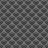 Seamless scaled circles. Black and white circles in scales Stock Photography