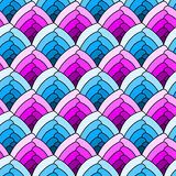 Seamless scales pattern background Stock Images