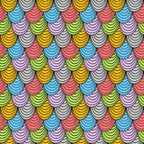 Seamless scales shells pattern background Royalty Free Stock Photography