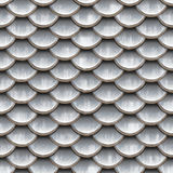 Seamless scales snake skin texture silver Royalty Free Stock Photo