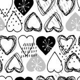 Seamless scandinavian pattern for Valentine day stock photos