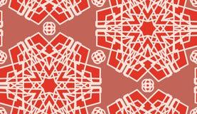 Seamless Scarlet Geometric Shapes Stock Photo