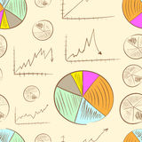 Seamless schedules and charts Royalty Free Stock Image