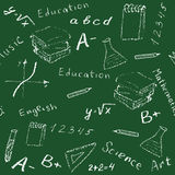 Seamless school board Royalty Free Stock Images