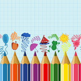 Seamless school border Royalty Free Stock Images