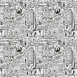 Seamless school element pattern. Vector drawing Stock Image