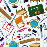 Seamless School Element Pattern Royalty Free Stock Photo