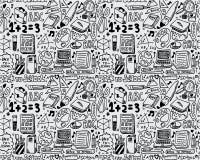 Seamless school pattern. Vector illustration Royalty Free Stock Photos