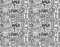 Seamless school pattern. Drawing Stock Images