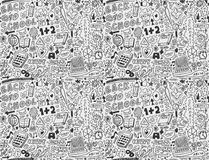 Seamless school pattern. Cartoon vector illustration Stock Images