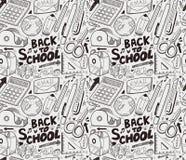 Seamless school pattern. Cartoon vector illustration Royalty Free Stock Images