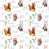 Seamless school pattern with animals, math formula, flowers. Watercolor. Seamless school pattern with school animals, math formula and flowers. Watercolor Royalty Free Stock Image