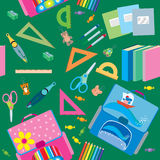Seamless school pattern. Back to School icons education seamless pattern Royalty Free Stock Photo