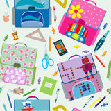 Seamless school pattern. Back to School icons education seamless pattern Stock Photography
