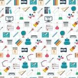 Seamless school pattern. Back to school. Flat design.. Illustration Royalty Free Stock Photos