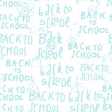 Seamless school pattern Stock Photo