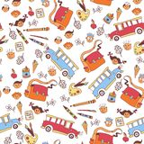 Seamless School pattern background Stock Image