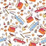 Seamless School pattern background. Seamless cartoon School pattern background Stock Image