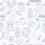 Seamless school pattern. Can be used for wallpaper, pattern fills, web page background Stock Photo