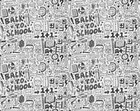 Seamless school pattern. Cartoon  illustration Royalty Free Stock Image