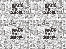 Seamless school pattern Royalty Free Stock Photos