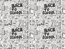 Seamless school pattern. Cartoon vector illustration Royalty Free Stock Photos