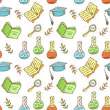 Seamless school pattern Stock Images