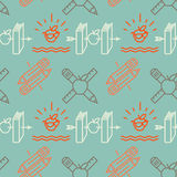 Seamless school pattern Stock Photography