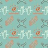 Seamless school pattern. Retro style, vector Eps10 illustration Stock Photography