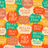 Seamless school pattern with speech bubbles Stock Photo