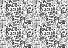 Seamless school pattern. Vector illustration file Royalty Free Stock Images