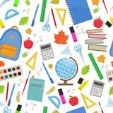 Seamless school pattern. On a white background. Vector stock illustration Stock Photo