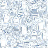 Seamless school pattern. On a white background. Vector stock illustration Royalty Free Stock Photos