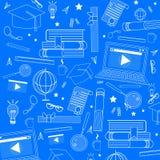 Seamless School Stuff Pattern Doodle Illustration vector illustration