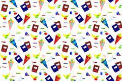 Seamless school things pattern. Stock Photography