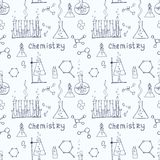 Seamless science background Royalty Free Stock Photo