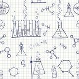 Seamless science background Stock Photos