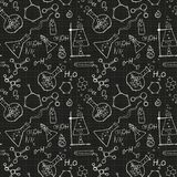 Seamless science background Royalty Free Stock Photos
