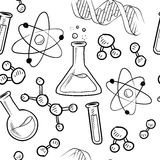 Seamless science lab background Stock Photography