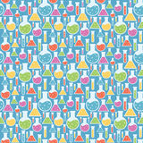Seamless Science Laboratory Pattern Stock Images