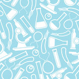 Seamless scientific pattern Stock Photography